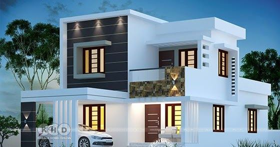 1580 Sq Ft 4 Bedroom Modern House Plan Kerala House Design Duplex House Design Model House Plan