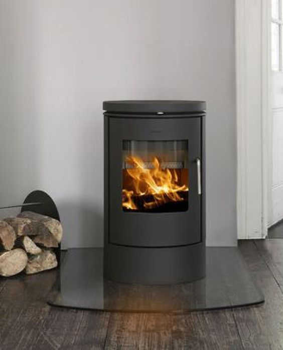 Corner Wood Burning Stove Functional And Interior: Fire Places & Mantelpieces