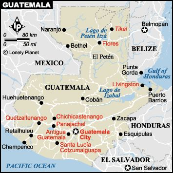 Major Cities In Guatemala Map - Physical map of guatemala cities