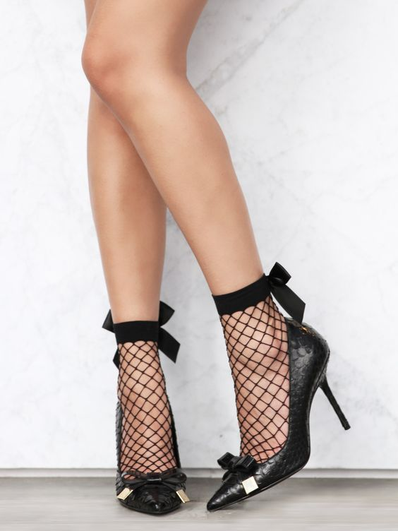 Naughty Or Nice Fishnet Socks