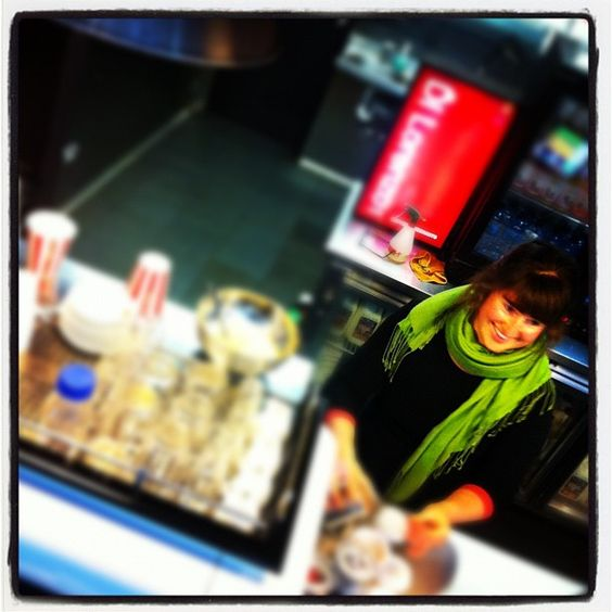"@derekclapham's photo: ""Free coffee! @katbray is THE barista of voice at #thelab"""