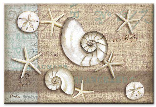 #CounterArt Linen Shells Glass Cutting Board, 8 by 12-Inch $12.99