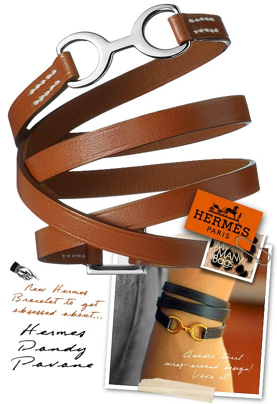 Hermès Dandy Pavane Wrap-around Bracelet