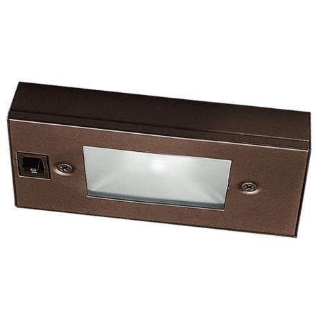 wac bronze xenon 6 wide under cabinet light bar under cabinet. Black Bedroom Furniture Sets. Home Design Ideas