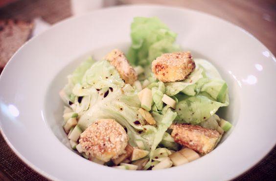RECIPES salade de chèvre pané