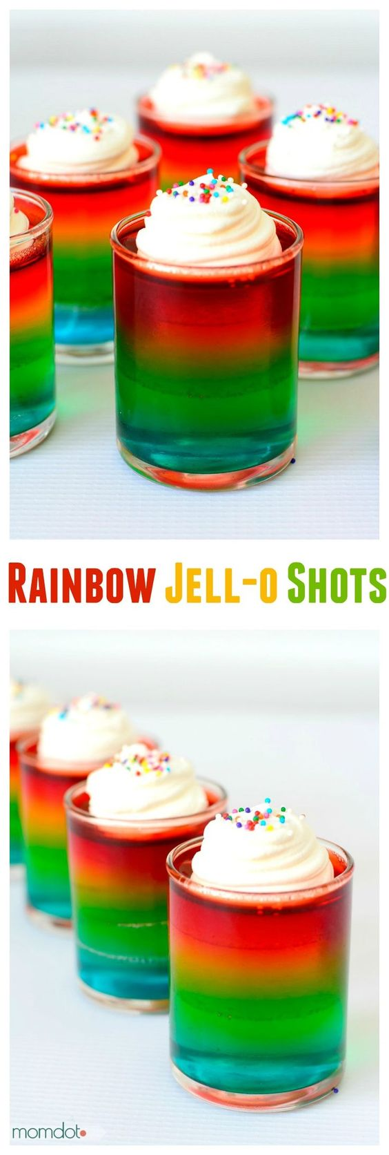 how to make rainbow jello shots : Rainbow Jello Shots : How to make a stunning adult rainbow shot to impress at your next party- why do kids have to have all the fun?
