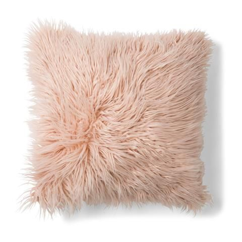 Zsa Zsa Faux Fur Cushion - Pink Kmart available in white too! Bedrooms for my girls ...