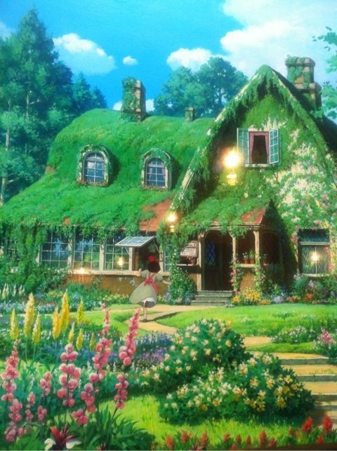 魔女宅キキの生家 ジブリの森美術館 自然の写真 風景