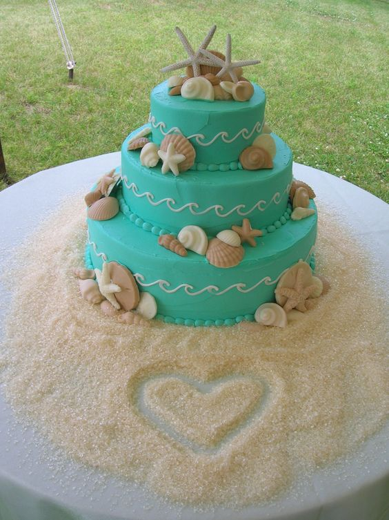 17-Teal-Waves-Crashing-with-White-Chocolate-Seashells-and-Heart-in-Sugar-Sand.jpg 856×1,144 pixels