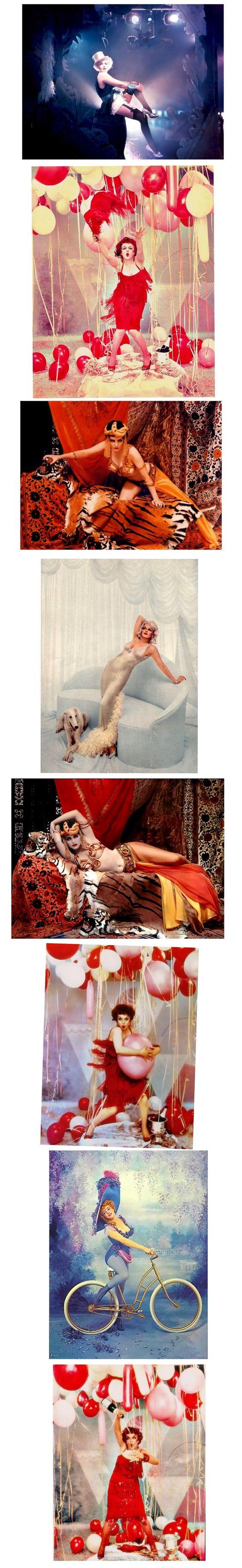 Marilyn Monroe 1958 Richard Avedon Photo Shoot. MM as Marlene Dietrich, Clara Bow, Theda Bara, Lillian Russell and Jean Harlow