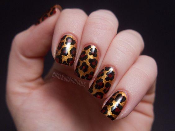 Betsey Johnson Style Leopard Print | Chalkboard Nails | Nail Art Blog