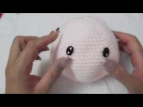 Muñeca Amigurumi colocar cabello chino a crochet (ZURDO) Video 3 - YouTube