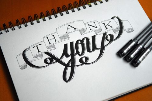 .: Calligraphy Letter, Thank You Typography, Calligraphy Typography, Beautiful Type, Beautiful Typography, Hand Lettering