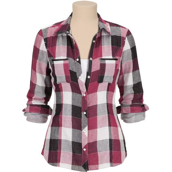 Buy Long Sleeve Plaid Button Down Shirt with Lurex - Overview ...