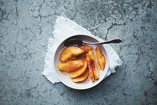 Peaches+Vanilla Almond Milk+Cinnamon and Sugar=vegan peaches and cream!