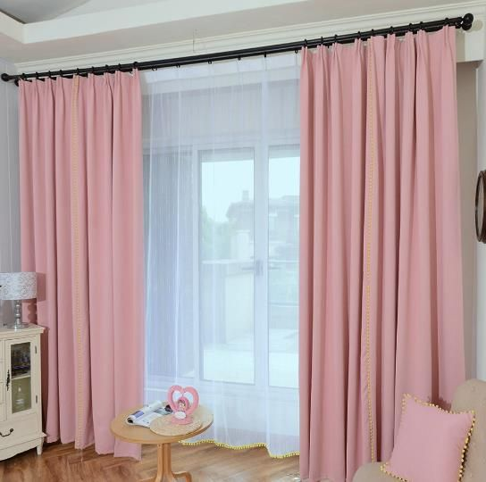 Pastel Pink Curtains Coral Color Blackout Window Treatments Pink Curtains Baby Pink Curtains Pink And Gold Curtains