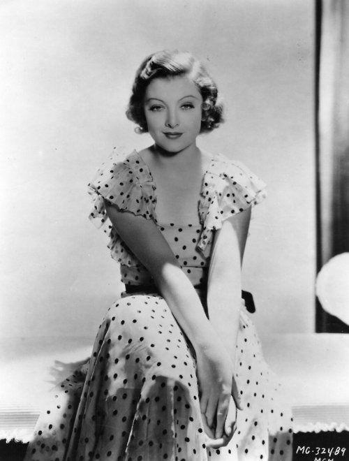 sassy face, Myrna Loy, 1935