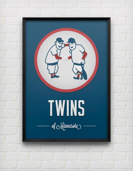 Minnesota Twins Retro Print by DesignsByEJB on Etsy, $20.00