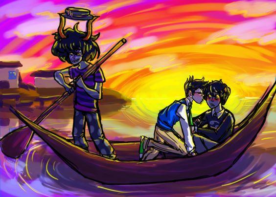 John egbert and karkat vantas kiss | ... makara heropop john egbert karkat vantas ocean redrom shipping | 76706