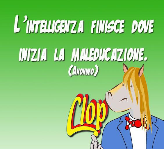 L'intelligenza inizia dove finisce la maleducazione.