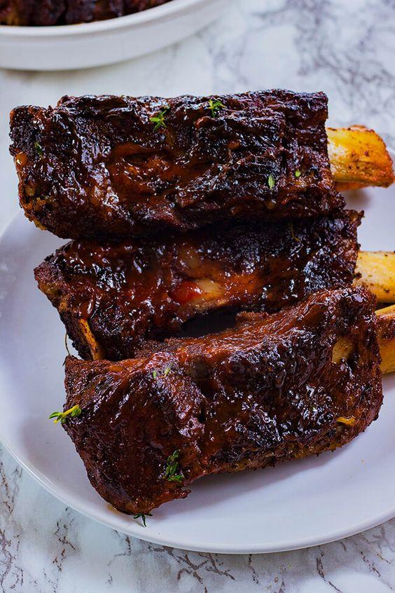 Oven Baked Jerk Beef Ribs