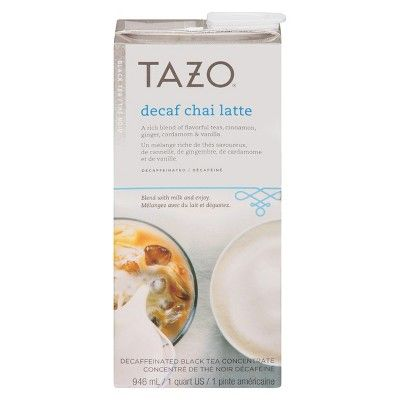 I spied with my Target eye: Tazo Decaf Chai Latte Black Tea 32-oz., from the Weekly Ad http://weeklyad.target.com
