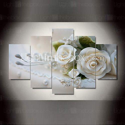 Botánico Impresión de la lona Cinco Paneles Listo para colgar , Horizontal - EUR €65.65