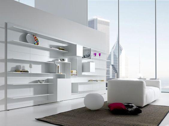 Módulo de arrumação de parede secional de MDF VITA by MDF Italia design Massimo Mariani, Aedas R