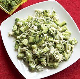 Cucumber & Feta Toss with Mint & Dill