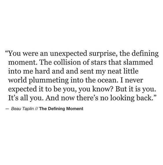 Unexpected. [Beau Taplin]