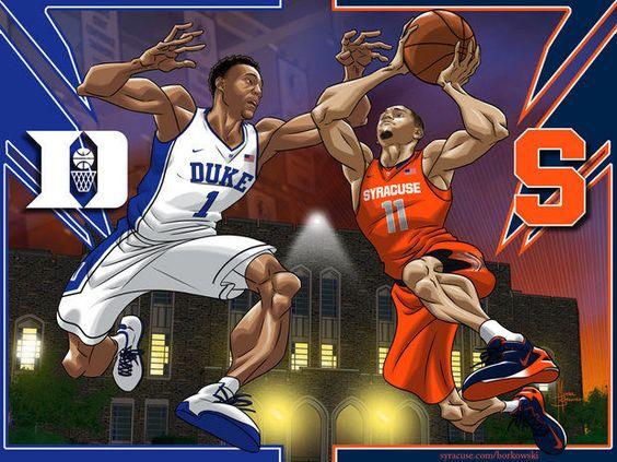 Basketball Cartoon: 'Cuse Vs. Duke II