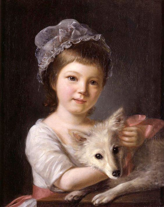 Nathaniel Hone R.A. (1718-1784) —  Young Girl with a Dog (1014x1280 ):