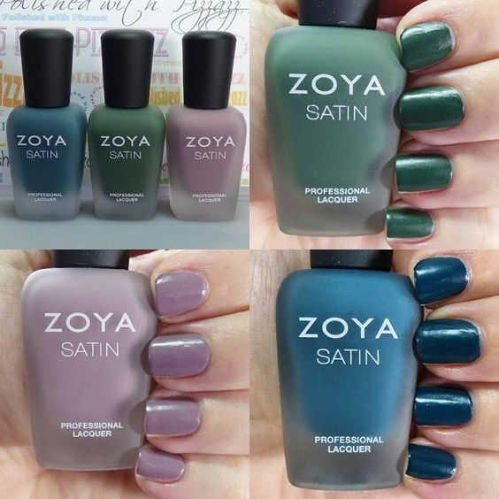 """#GIVEAWAY!! I have swatches and a giveaway of the @zoyanailpolish NYFW Satins Trio on my blog. I'm loving these shades for Fall and since they're no…"""