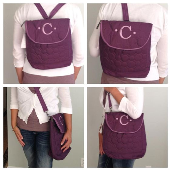 Not only can you wear the Vary You Backpack Purse FOUR ways, you can also get it personalized! http://www.mythirtyone.com/queennicole31