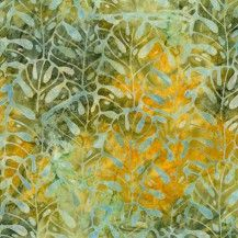 Totally Tropical Batik Fabric Seaweed - Aloe
