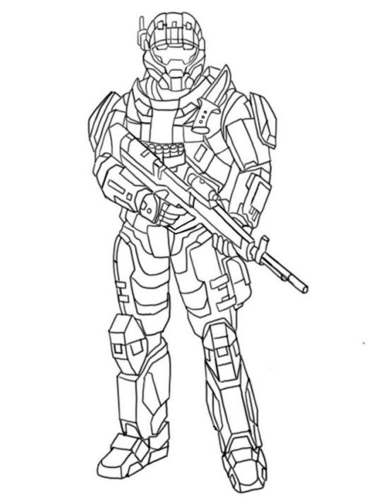 Halo And Call Of Duty Battlefield Coloring And Drawing Page Army Sketching Sheet Coloring Pages To Print Coloring Pages Super Mario Coloring Pages