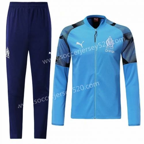 2018 19 Olympique Marseille Royal Blue Thailand Training Soccer Jacket Uniform Lh