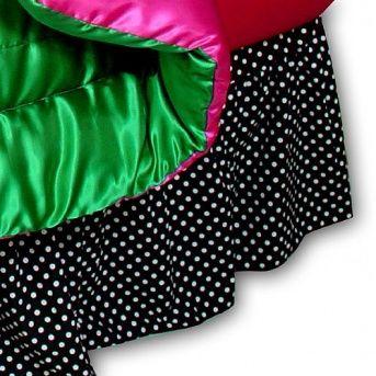 Gathered Polka Dot Bedskirt