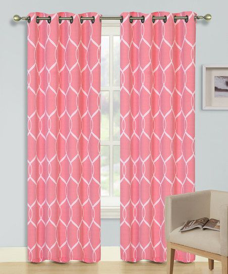 Kashi Enterprises Red Quinn Curtain Panel - Set of Two   zulily