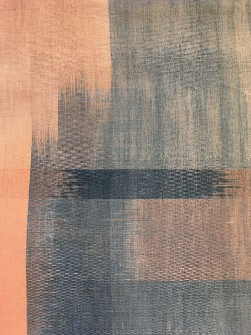 Spring Concentration Painted Warp Textiles Fiber Art