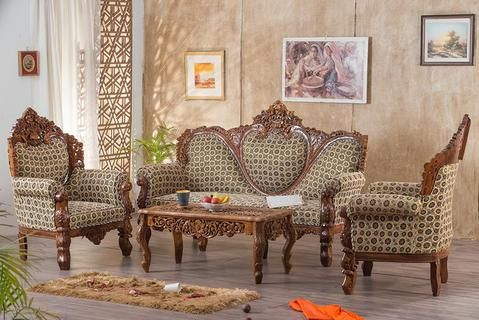 Buy Solid Wooden Carving Czar Bed With Storage Online In India Latest Bed Designs Saraf Furniture In 2020 Carved Sofa Living Room Chairs Sofa Set