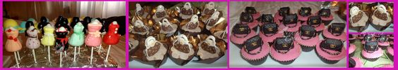 50esimo compleanno tema Shopping...cupcakes e cakepops in tema : )