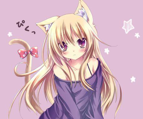 Girl cat anime A Whisker