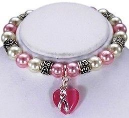 Pink Ribbon Stretch Bracelet Breast Cancer Awareness Makes A Great Gift | eBay