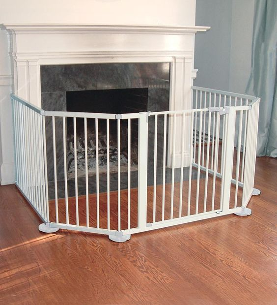 Wall Mounted Flexible Fence For Wood Stove Corner Wood
