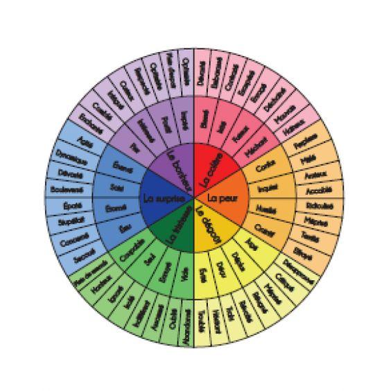 La roue des émotions Emotions Pinterest Boutiques