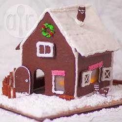 Casa navideña de galleta de jengibre @ allrecipes.com.mx