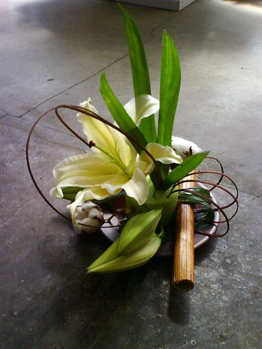 Lily table arrangement...Lily Rose