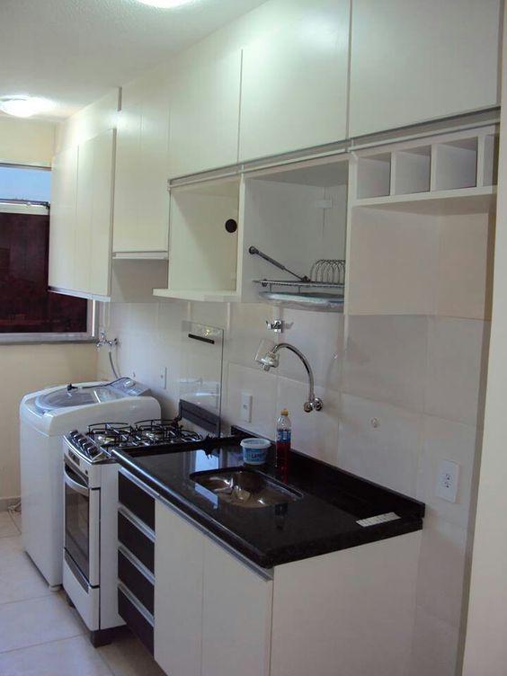 Cozinha pequena planejada  Ideias para cozinha  Pinterest # Cozinha Planejada Pequena Bh