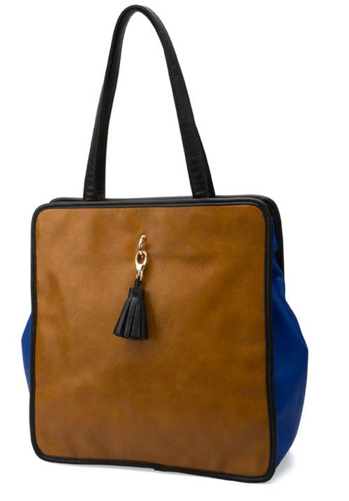 Blue Vintage Purl Shoulder Bag
